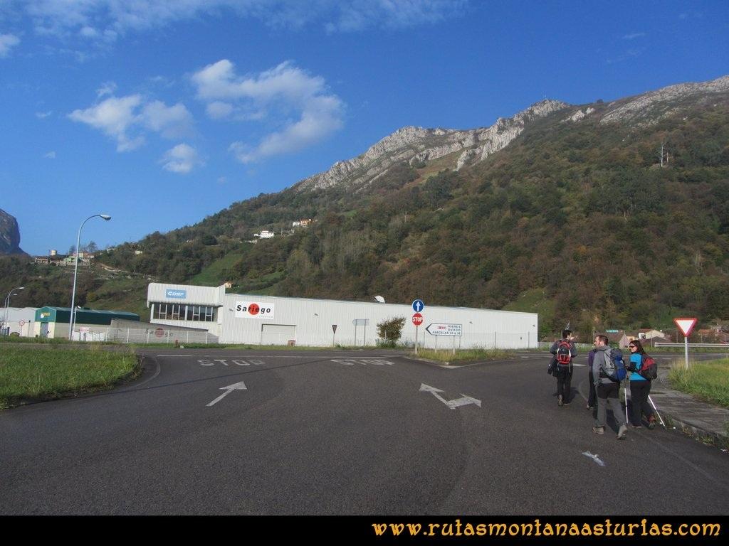Ruta Baiña, Magarrón, Bustiello, Castiello. Salida del Polígono de Baiña