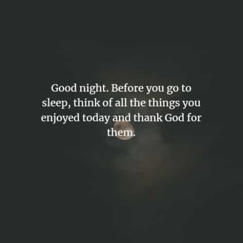 Inspiring good night quotes and messages for loved ones