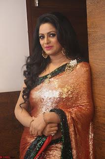 Udaya Bhanu lookssizzling in a Saree Choli at Gautam Nanda music launchi ~ Exclusive Celebrities Galleries 108.JPG