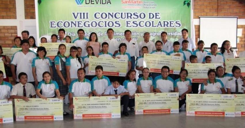 Premian proyectos de 20 Colegios en la San Martín en el «VIII Concurso de Econegocios Escolares 2018»