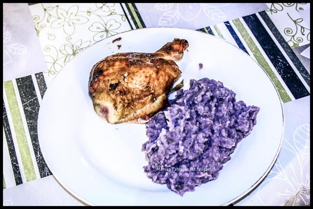 purée patate violette