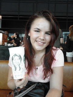 live caricature drawing Starbucks Johannesburg South Africa