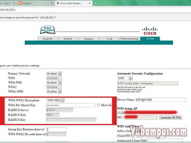 Cara Ganti Password Wifi First Media Lewat Hp Dan Pc Yukampus