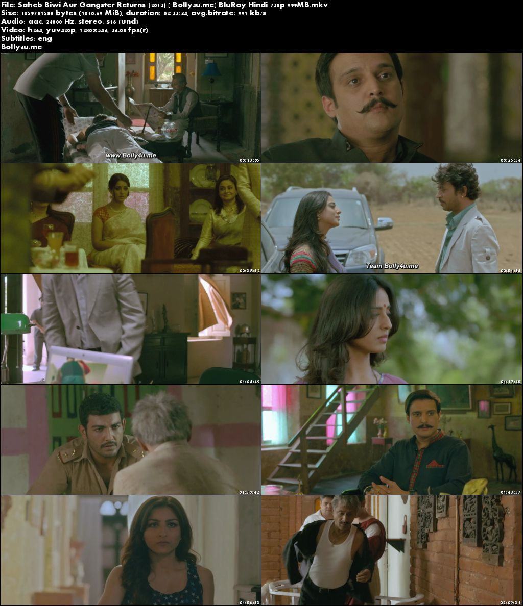 Saheb Biwi Aur Gangster Returns 2013 BluRay 400MB Hindi 480p ESub Download