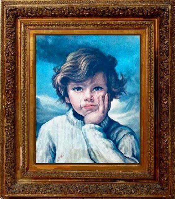 2bdace1c4f5e6 وكانت اللّوحة عبارة عن طفل جميل يبكي. يبكي ربّما لحياته في الغُرْبة بعيدا  عن أهله وذويه، وحنينه إليهم جميعا...ء