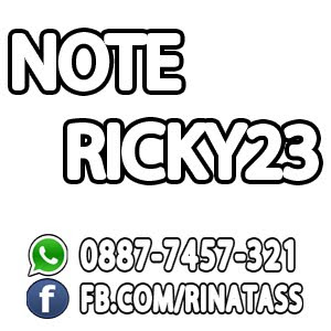 Note-Ricky23   FREE DOWNLOAD SOFTWARE DAN GAME