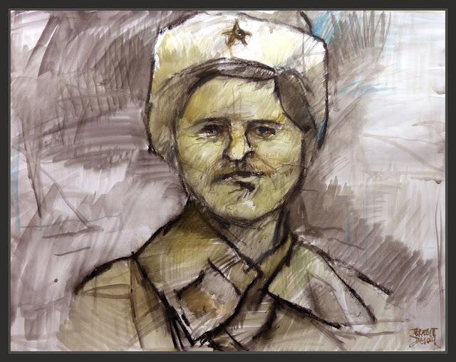 SOLDADOS-SIBERIANOS-RUSIA-ARTE-PINTURA-SEGUNDA GUERRA MUNDIAL-PERSONAJES-MILITAR-HISTORIA-PINTURAS-ARTISTA-PINTOR-ERNEST DESCALS