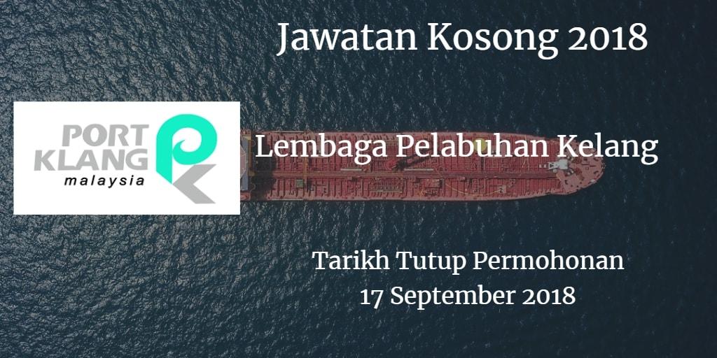 Jawatan Kosong Lembaga Pelabuhan Kelang 17 September 2018