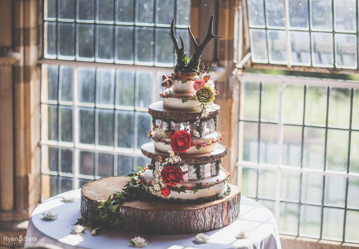 wedding cake, woodland theme wedding, fairytale wedding