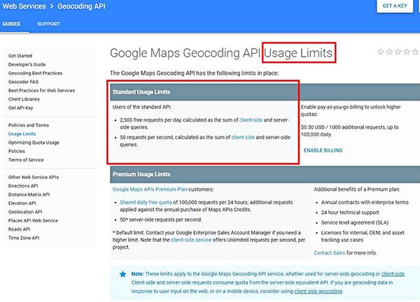 API Usage Limits