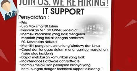 Lowongan Kerja It Support Butik Dukomsel Bandung Terbaru 2017