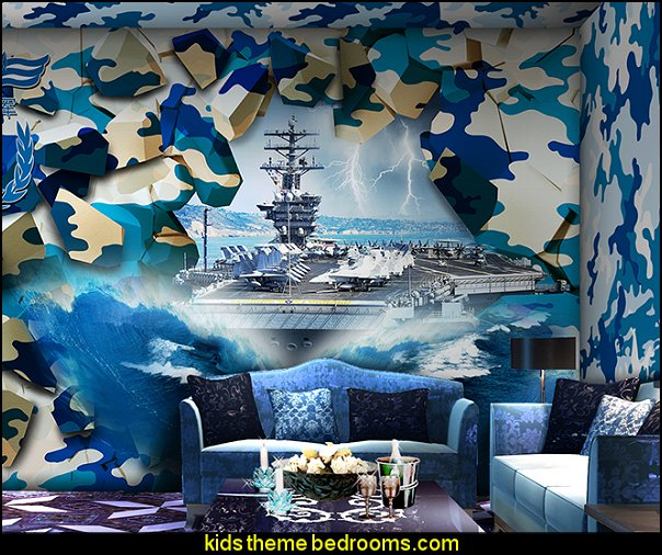 Decorating theme bedrooms maries manor camouflage for Army wallpaper mural