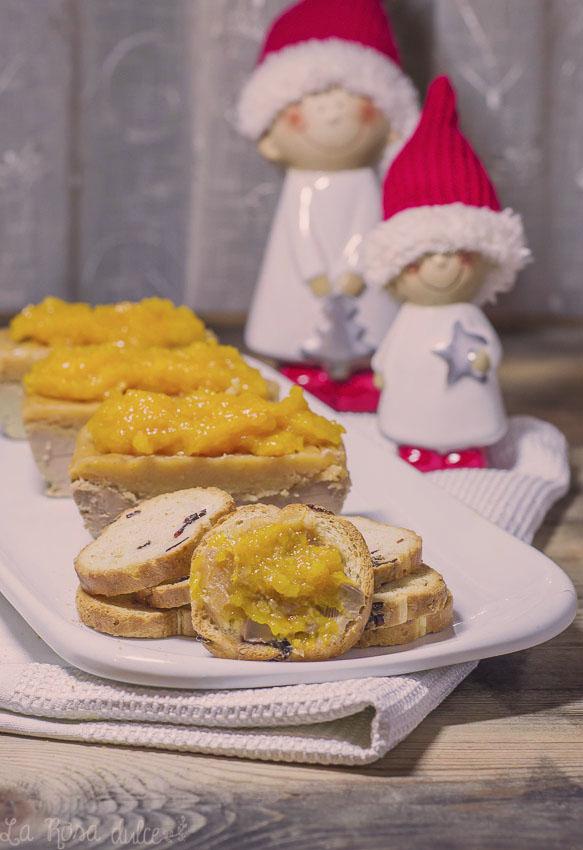 Turrón de foie y compota de lima #navidad