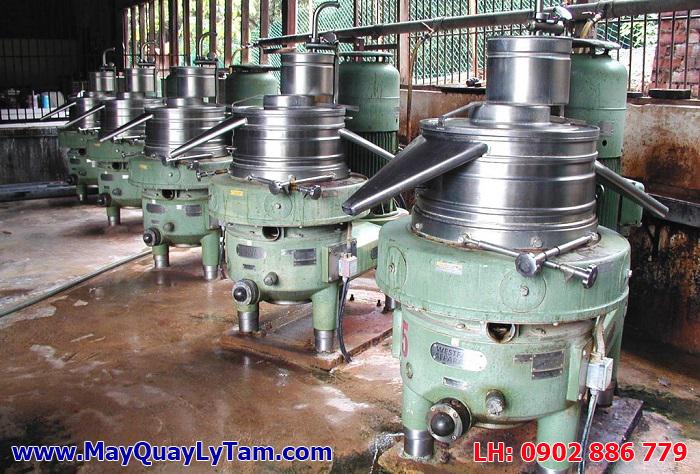 Máy ly tâm mủ cao su latex, thiết bị quan trọng trong hệ thống sản xuất găng tay cao su, nệm...