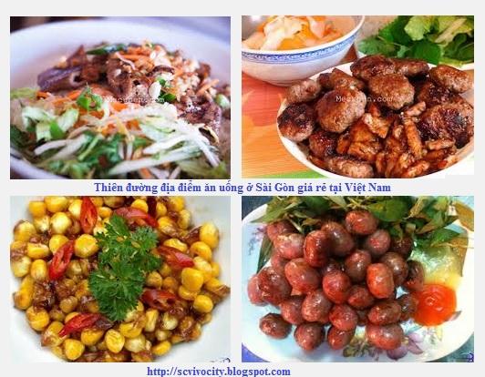 Thiên đường địa điểm ăn uống ở Sài Gòn giá rẻ tại Việt Nam