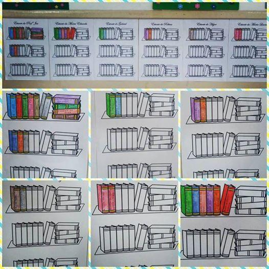 Estante de Livros para Controle de Leitura