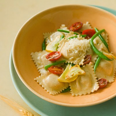 Cheese Ravioli with Fresh Vegetables