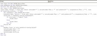 Source Code Login VB 6.0 Dengan Hak Akses