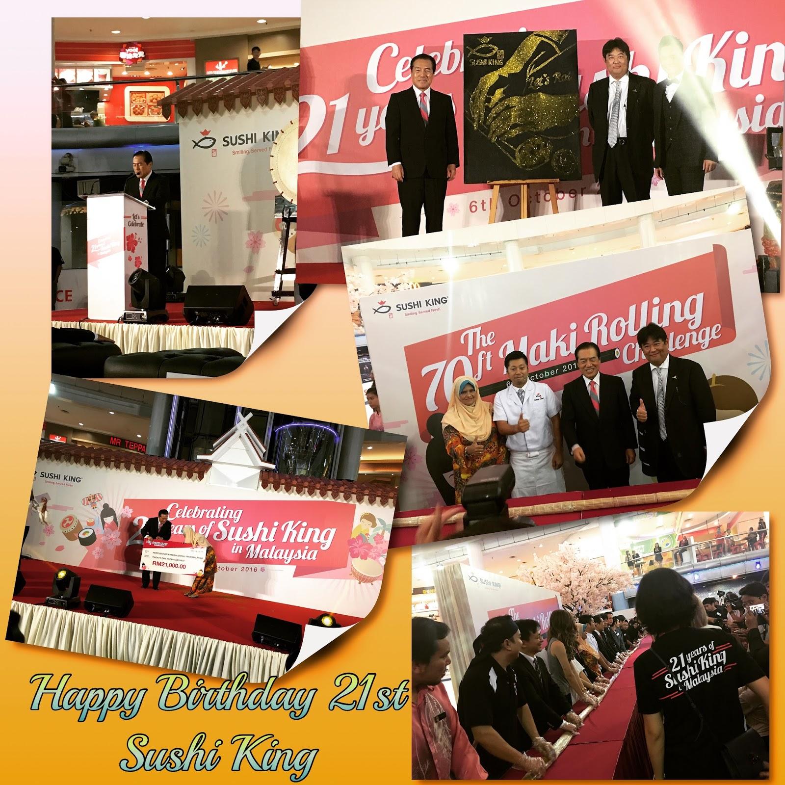 Happy Birthday 21st SUSHI KING Smile Served Fresh to all