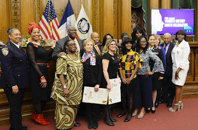 ELEVEN ARE HONORED FOR SERVICE AT BROOKLYN BOROUGH HALL WOMEN'S HISTORY MONTH CEREMONY