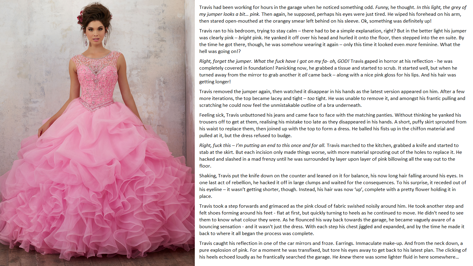Emily S Tg Captions Trapped In Pink Anonymous Request