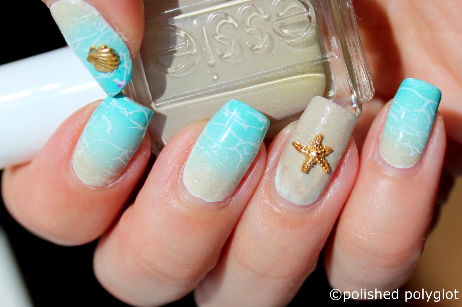 Nail Art Beach Nails Polished Polyglot