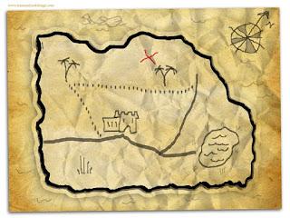 panduan bagaimana buat lukisan peta harta karun