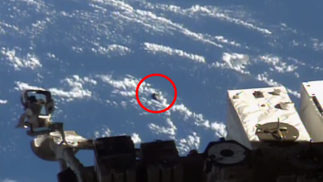 The Full Video Of Real Metallic UFO At The ISS