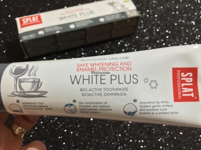 splat professional white plus beyazlatma etkili diş macunu