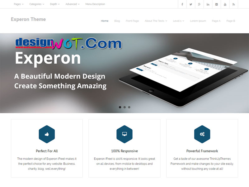 Experon Multi purpose Professional Theme