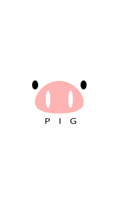 SIMPLE PIG(white)
