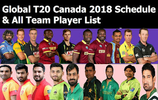 Global T20 Canada 2018 Schedule & All Team Player List, cricket Global T20 Canada 2018 schedule, Global T20 Canada 2018 all teams, Global T20 Canada 2018 all players, Global T20 Canada 2018 team squads, cricket Canada, cricket t20 league 2018, match detail, timing, match place, local time, afridi, Steven Smith,  Chris Gayle, t20 cricket, cricket schedule 2018, icc cricket,  Toronto Nationals, Vancouver Knights, Montreal Tigers, Winnipeg Hawks, Edmonton Royals, CWI B Team