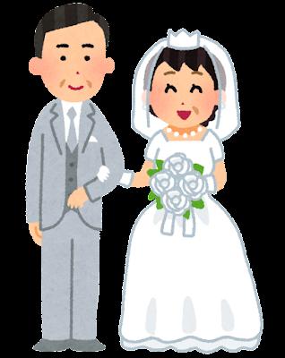 晩婚のイラスト