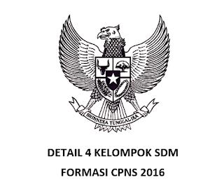 Detail SDM Formasi CPNS 2016