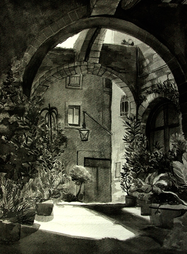 01-Malisa-Suchanya-Enchanting-Architectural-Drawings-of-Viterbo-Italy-www-designstack-co