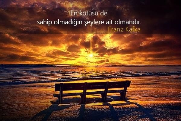 manzara, deniz kenarı, franz kafka, özlü sözler, güzel sözler, anlamlı sözler, bank, sahil, güneş batışı, kumsal