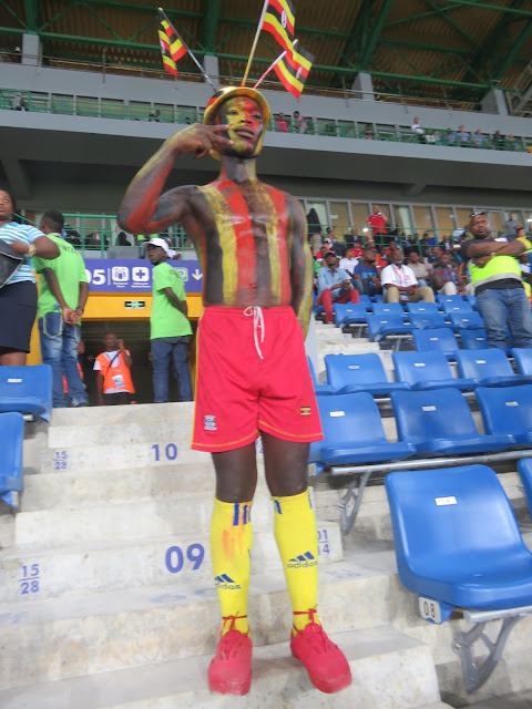 Uganda fan at Afcon 2017.