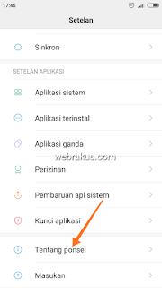 Cara mengetahui versi android di smartphone kamu