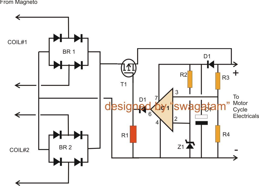 motorcycle regulator rectifier wiring diagram