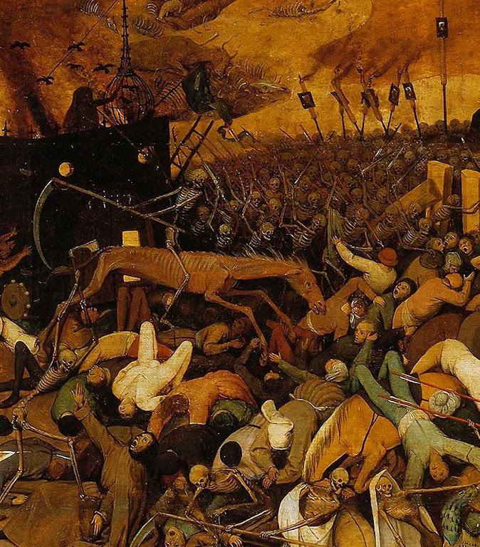 Triunfo da morte, detalhe. Pieter Bruegel (1525-1530 — 1569) Museo del Prado, Madri.