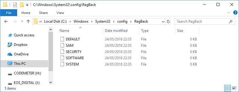 1234n6: Has RegBack been retired?