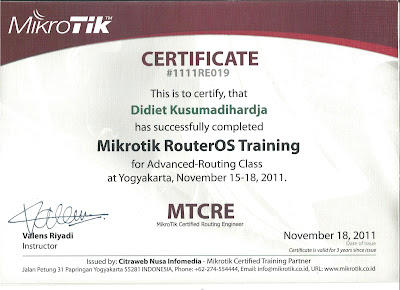 MTCRE Certificate