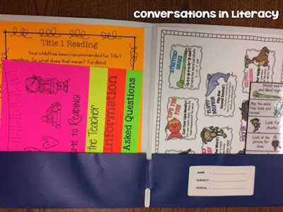 Meet the Teacher Folder to pass out information to parents