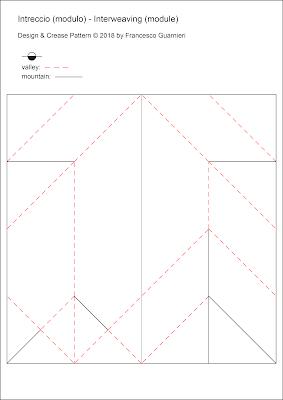 Origami Crease Pattern Intreccio - Interweaving  © by Francesco Guarnieri