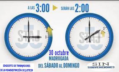 Staj Canarias Cambio Horario