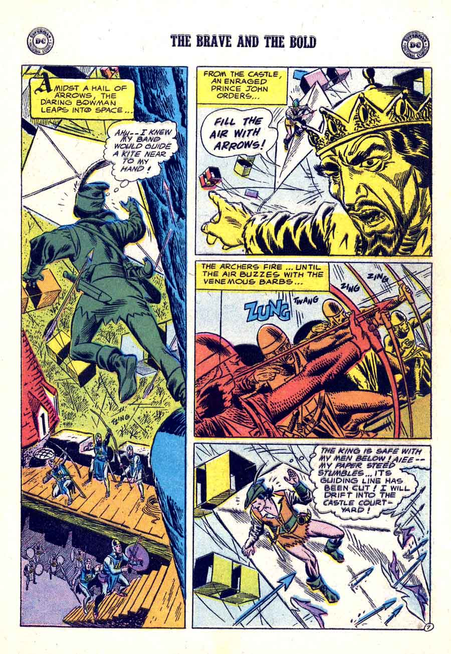 Joe Kubert dc golden age 1950s robin hood comic book page - Brave and the Bold #6