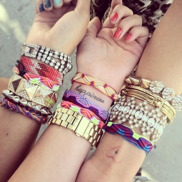 The Modernette.: trendy tuesday: stacked bracelets