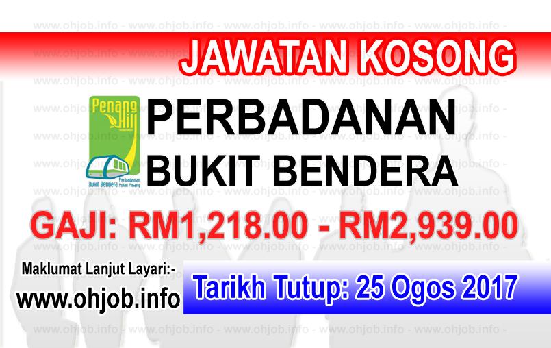 Jawatan Kerja Kosong Perbadanan Bukit Bendera Pulau Pinang logo www.ohjob.info ogos 2017