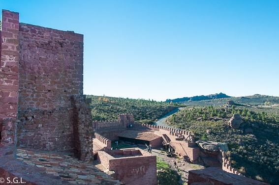Zona superior Castillo Peracense. Teruel