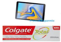 Logo ''Con Colgate e Carrefour puoi vincere Samsung'': 18 Tablet Galaxy Tab A 10,5 in palio!